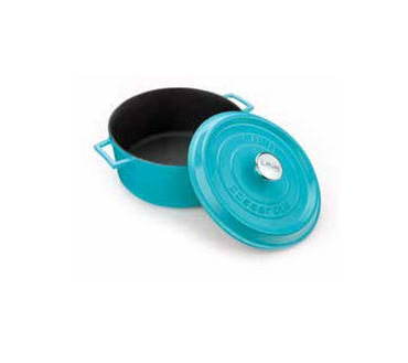 LAVA ROUND CASSEROLE - TURQUOISE - Mabrook Hotel Supplies