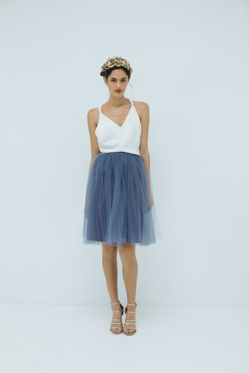 Sylvie Short Tulle Skirt in Amethyst