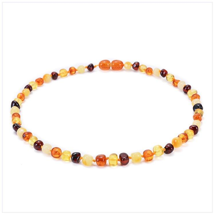 Gift For Baby 12.9 Inch High Quality Certificated Natural Baltic Amber Teething Necklace