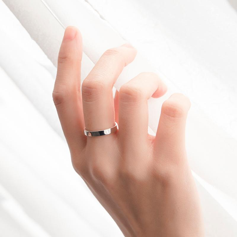 Handcrafted Engravable Promise Rings for Couples in Sterling Silver