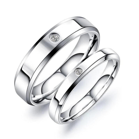 Matching Heart Puzzles Stainless Steel Couple Rings