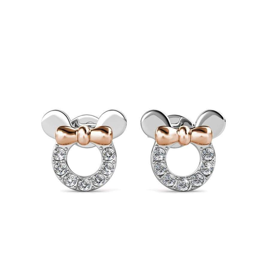 Micky Mouse Two-Tone Sterling Silver Earrings for Her