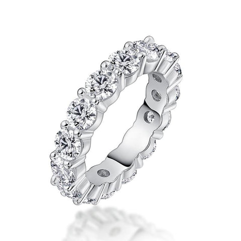 0.5 CT. Round Diamond Crown Shape Promise Ring in Sterling Silver