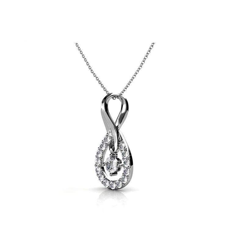 Infinite Love Diamond Sterling Silver Necklace