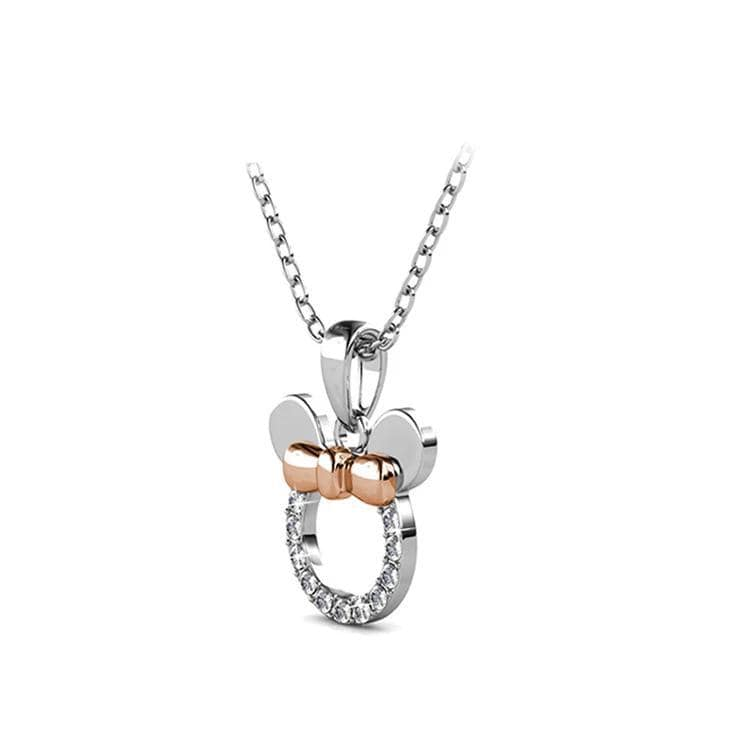 Micky Mouse Two-Tone Sterling Silver Necklaces for Her