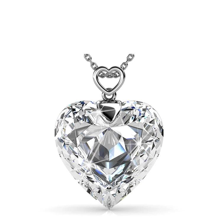 Heart Crystal Diamond Necklace