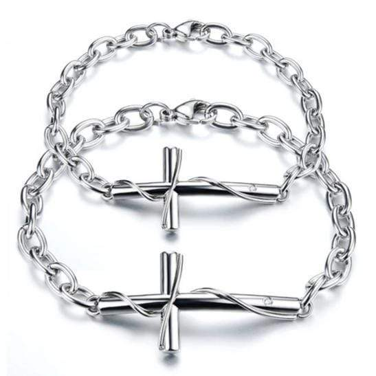 Cross Bracelets for Couples