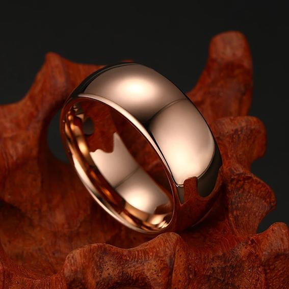 Rose Gold Plated Tungsten Carbide Ring