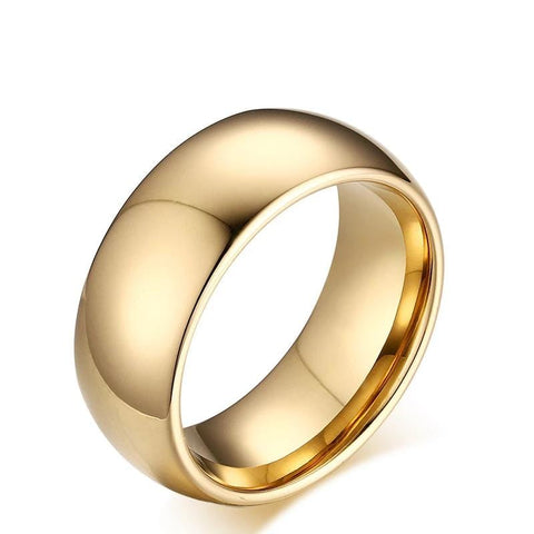 Men's Engravable Wedding Band in Two-Tone Stainless Steel