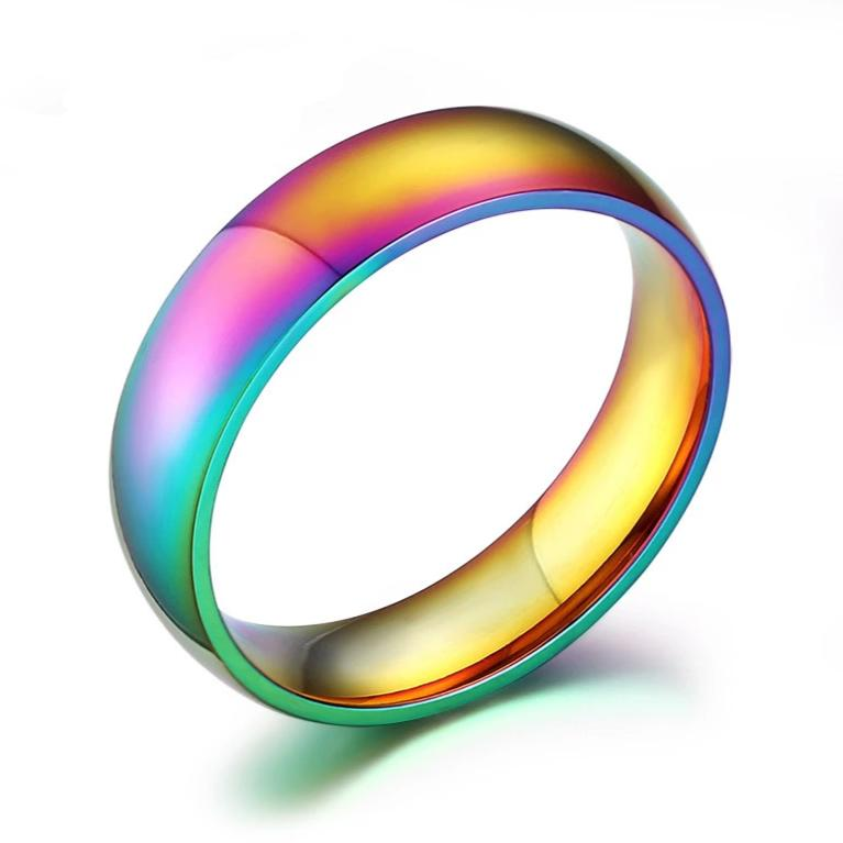 Unisex Colorful Stainless Steel Ring