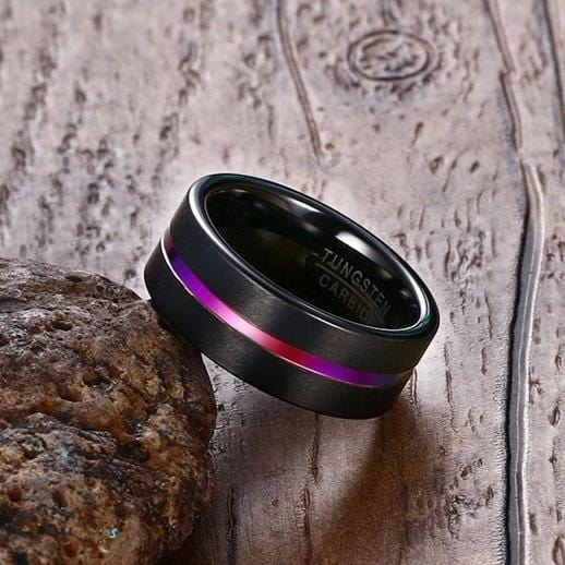 Unicorn Black Tungsten Carbide Ring