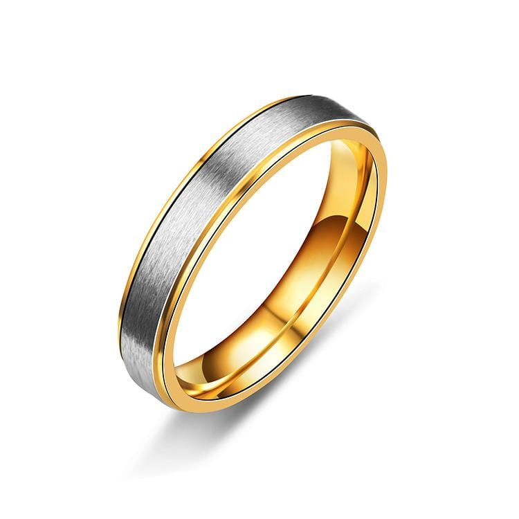 4mm Two-Tone Couple Engagement Rings - Men's Ring