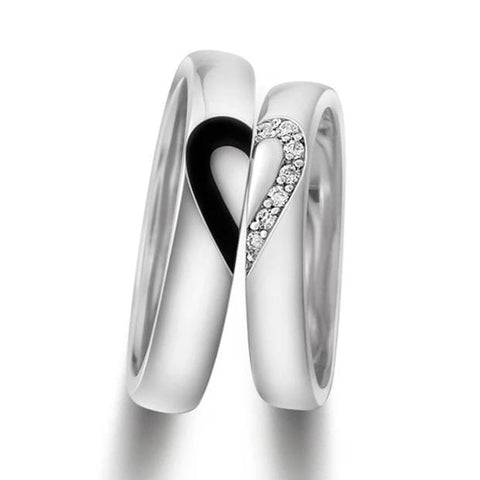 Couple's Diamond Titanium Promise Ring