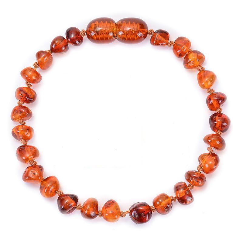 Gift For Baby  5.9 Inch High Quality Certificated Natural Baltic Amber Teething Jewelry