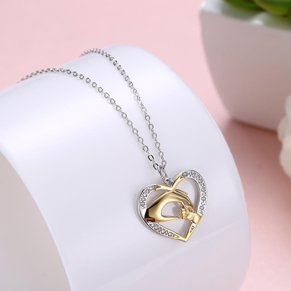 Mom's Love Heart Shape S925 Sterling Silver Necklace