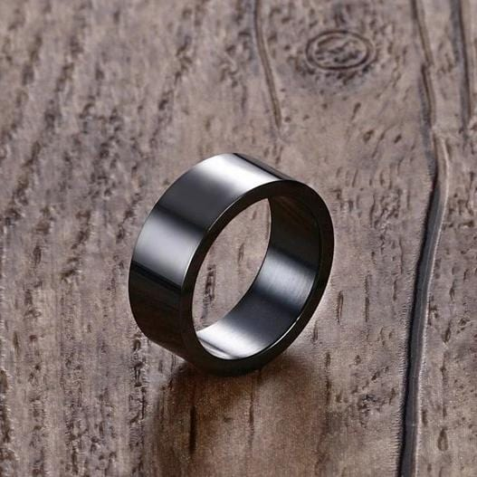 Black Stainless Steel Couple Rings