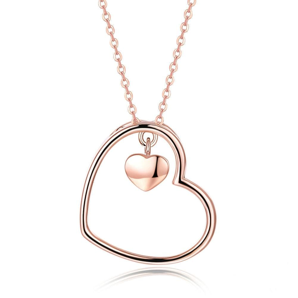 In My Heart Rose Gold Plated S925 Sterling Sliver Necklace