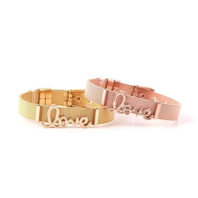 LOVE Alphabet Stainless Steel Bracelet for Her