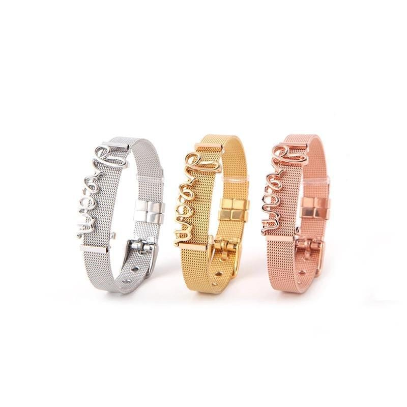 DREAM Alphabet Stainless Steel Bracelet for Her