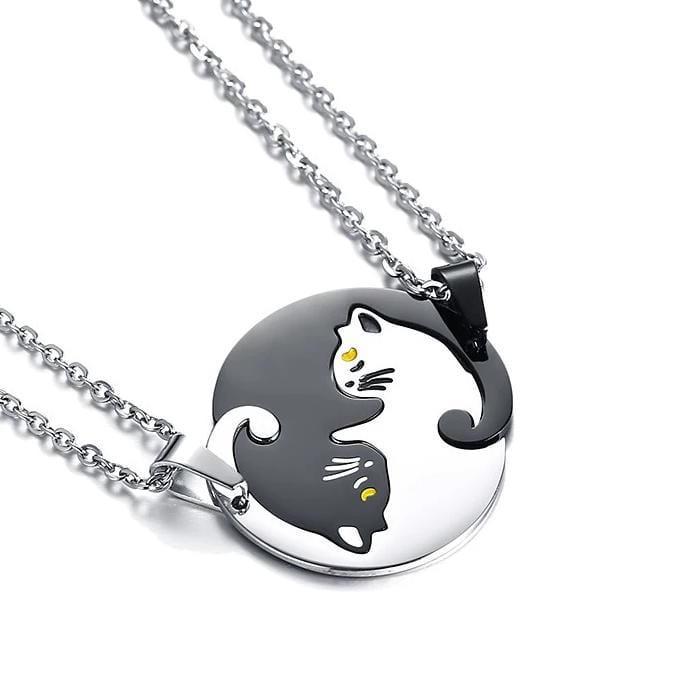 Unique Puzzle Cats Necklaces for Couples