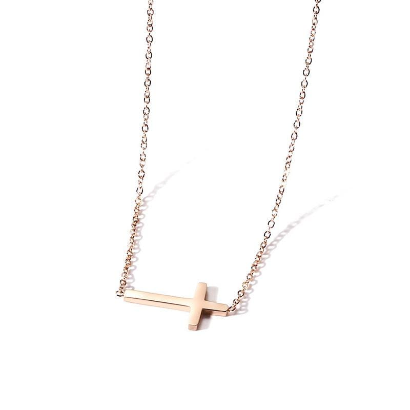 Personalized Cross Engraved Necklaces for Her
