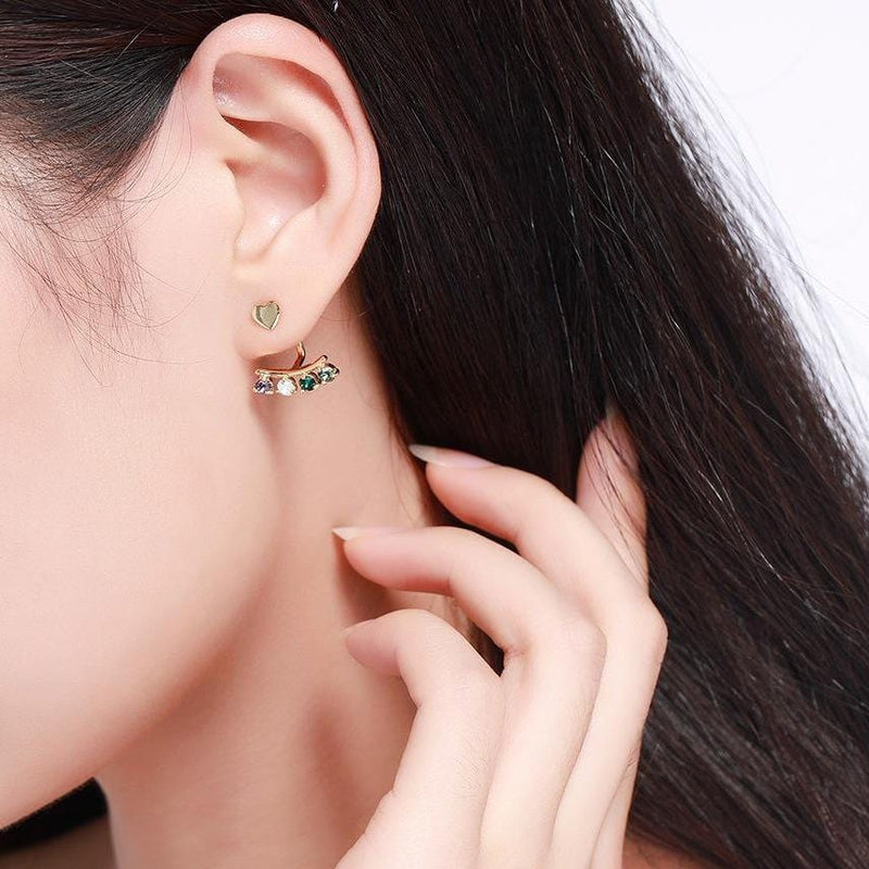 Geometric S925 Sterling Silver Ear Jackets