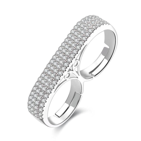 1/5 CT. Bezel-Setting Diamond Twist Shank Stackable Eternity Band in Sterling Silver