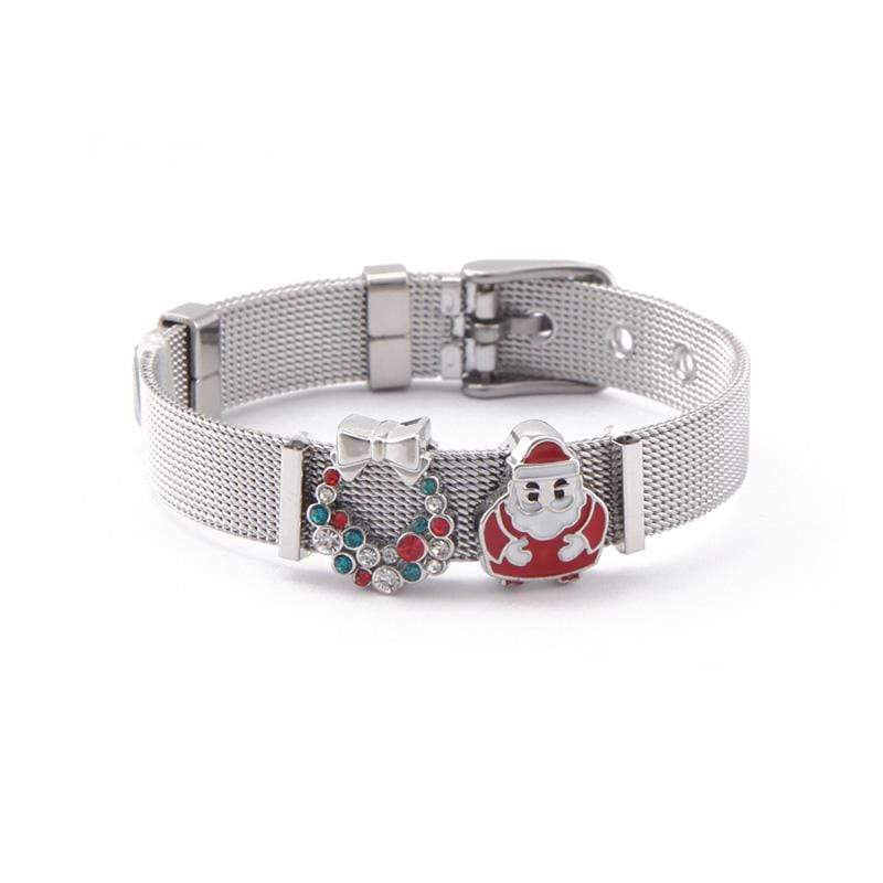 Christmas Charm Bracelet Set for Her