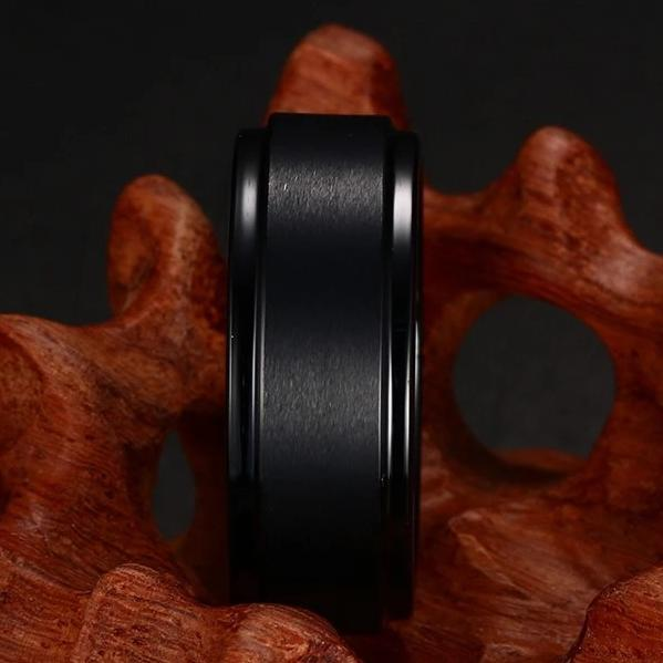Never Went Out of Fashion Black Tungsten Carbide Ring for Him