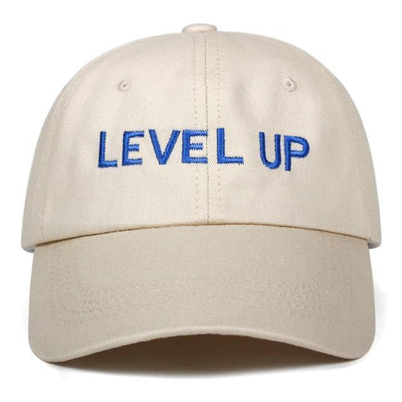 LEVEL UP DAD HAT-Hats-BEIGE-Urban Fit