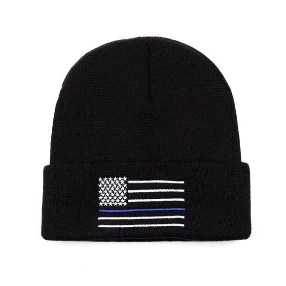 STARS & STRIPES BEANIE-Hats-BLACK-Urban Fit