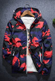 Camo Windbreaker-Windbreaker-Red-Urban Fit