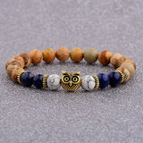Owl Beaded Bracelet-Bracelet-Khakhi Blue-Urban Fit