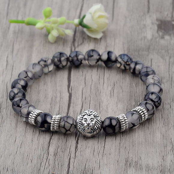 Lion Beaded Bracelet-Bracelet-Urban Fit