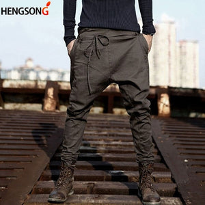 Harem Pants-Pants-Black-Urban Fit