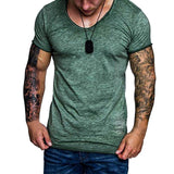 Slim Fit Curve Bottom Tee-Tee-color 3-Urban Fit