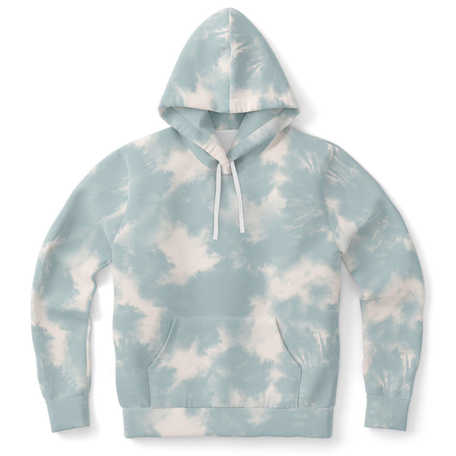 Cuteanlovely | Dusty Teal Tie Dye Hoodie