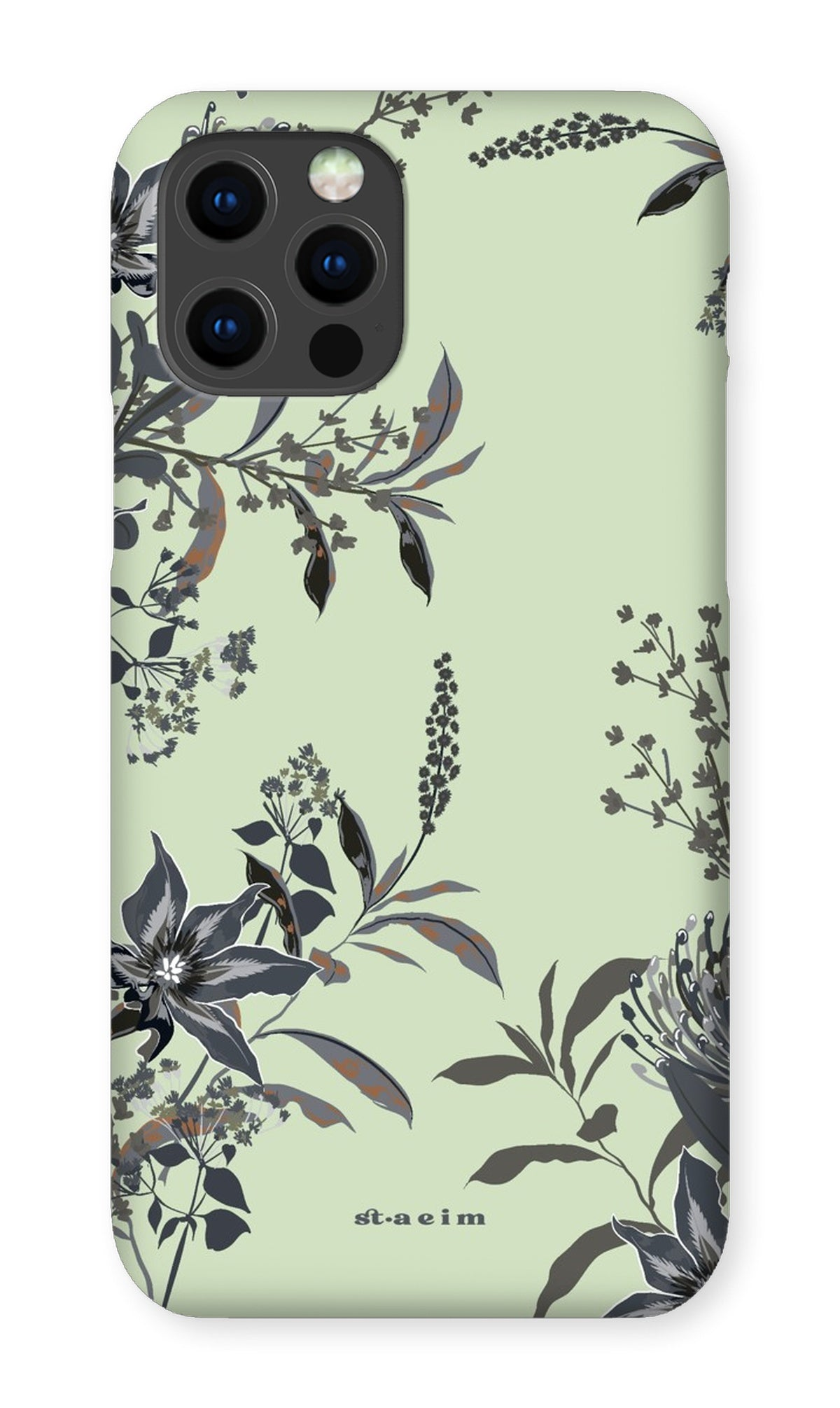 Gray Floral iPhone Case Phone Case