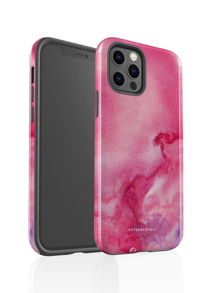 CUTEANLOVELY | Cerise Pink Cloud Marble iPhone 12 Pro Case