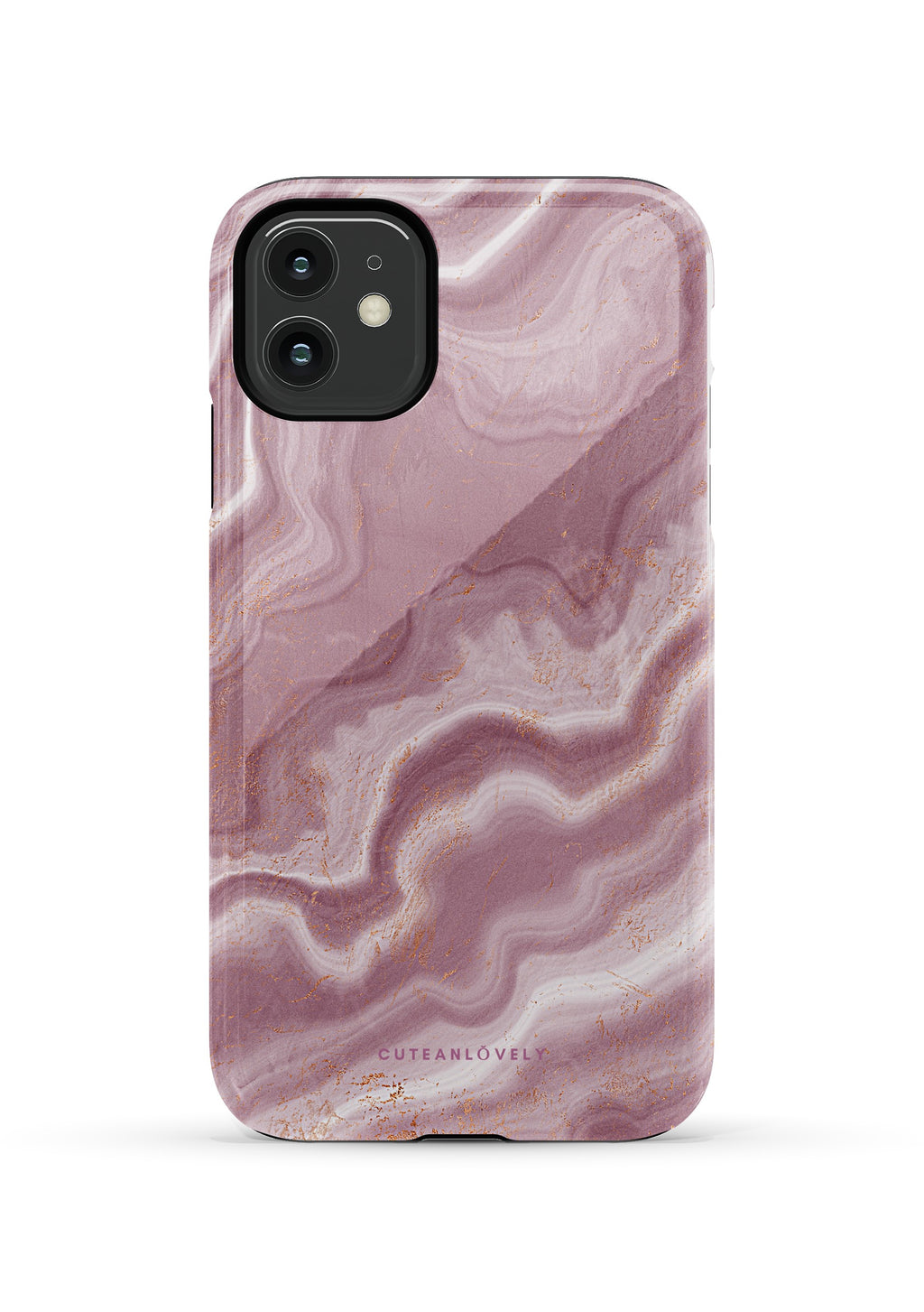 CUTEANLOVELY | Cracked Cloud Marble iPhone 11 Case
