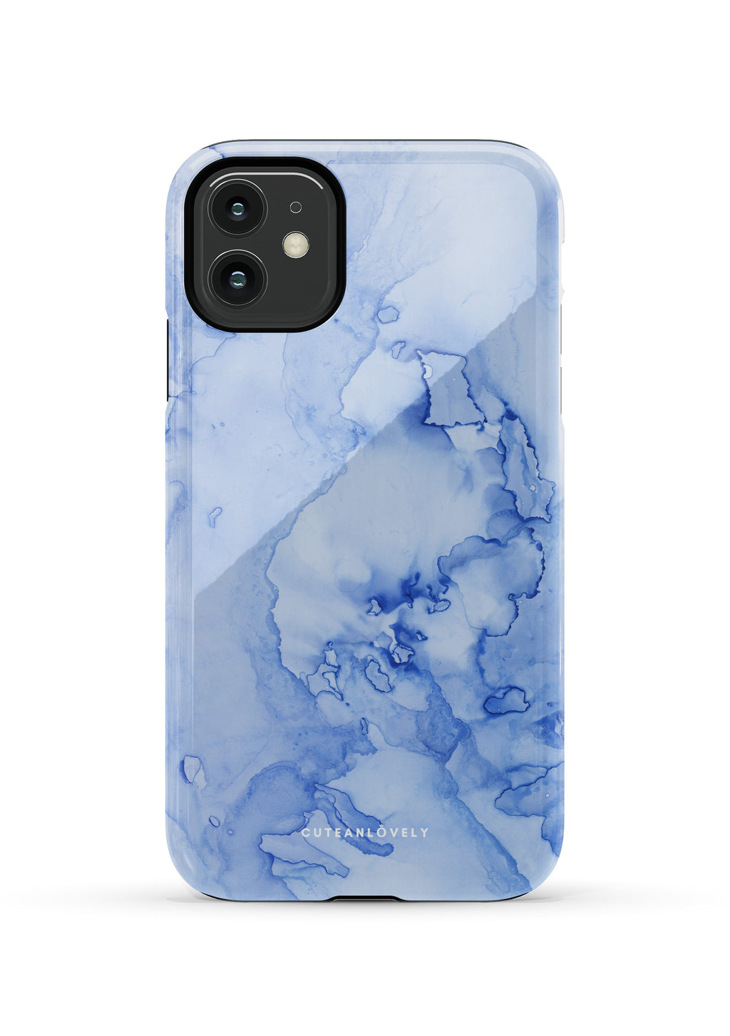 CUTEANLOVELY | Cornflower Cloud Marble iPhone 11 Case