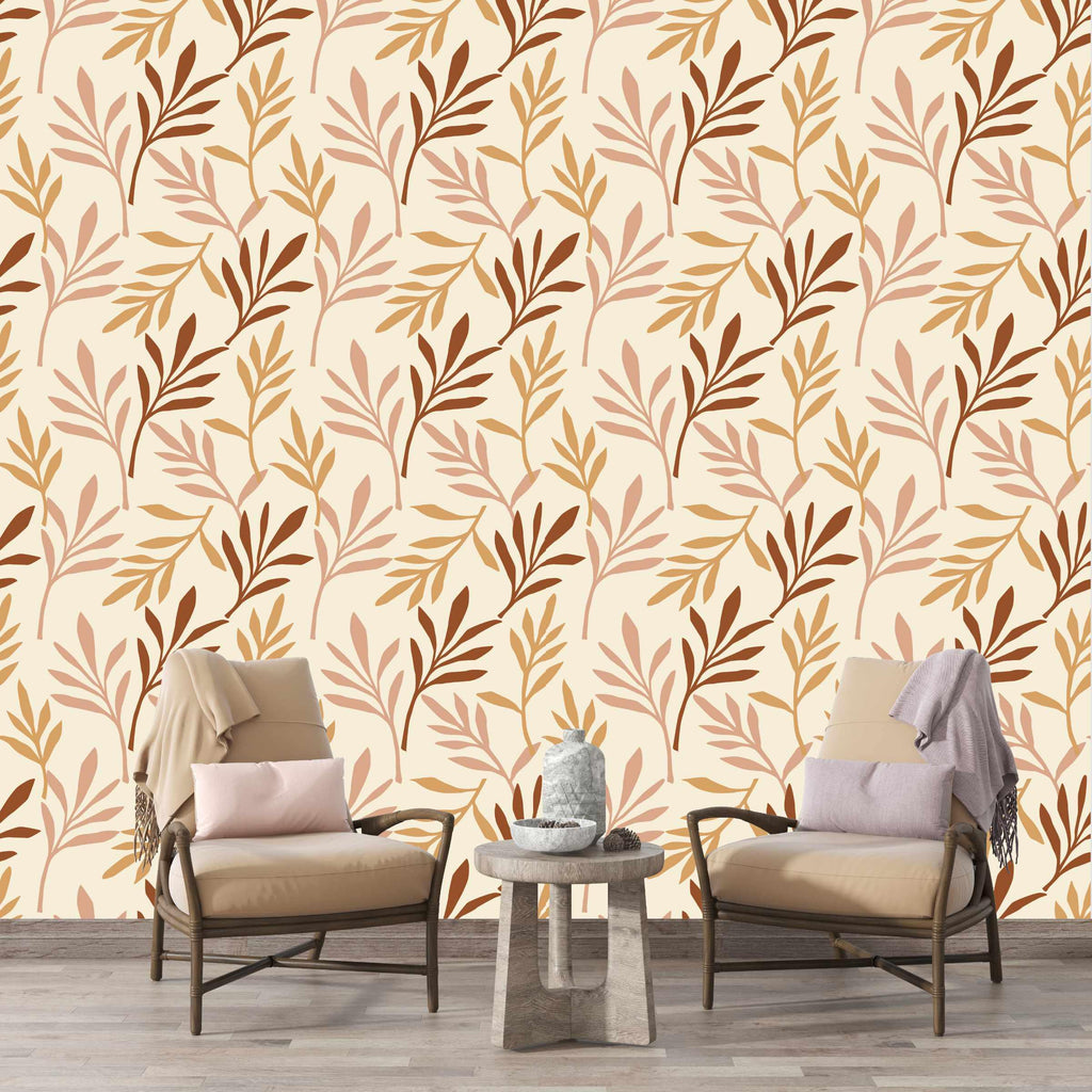 CUTEANLOVELY - Terra Foliage Peel and Stick Wallpaper