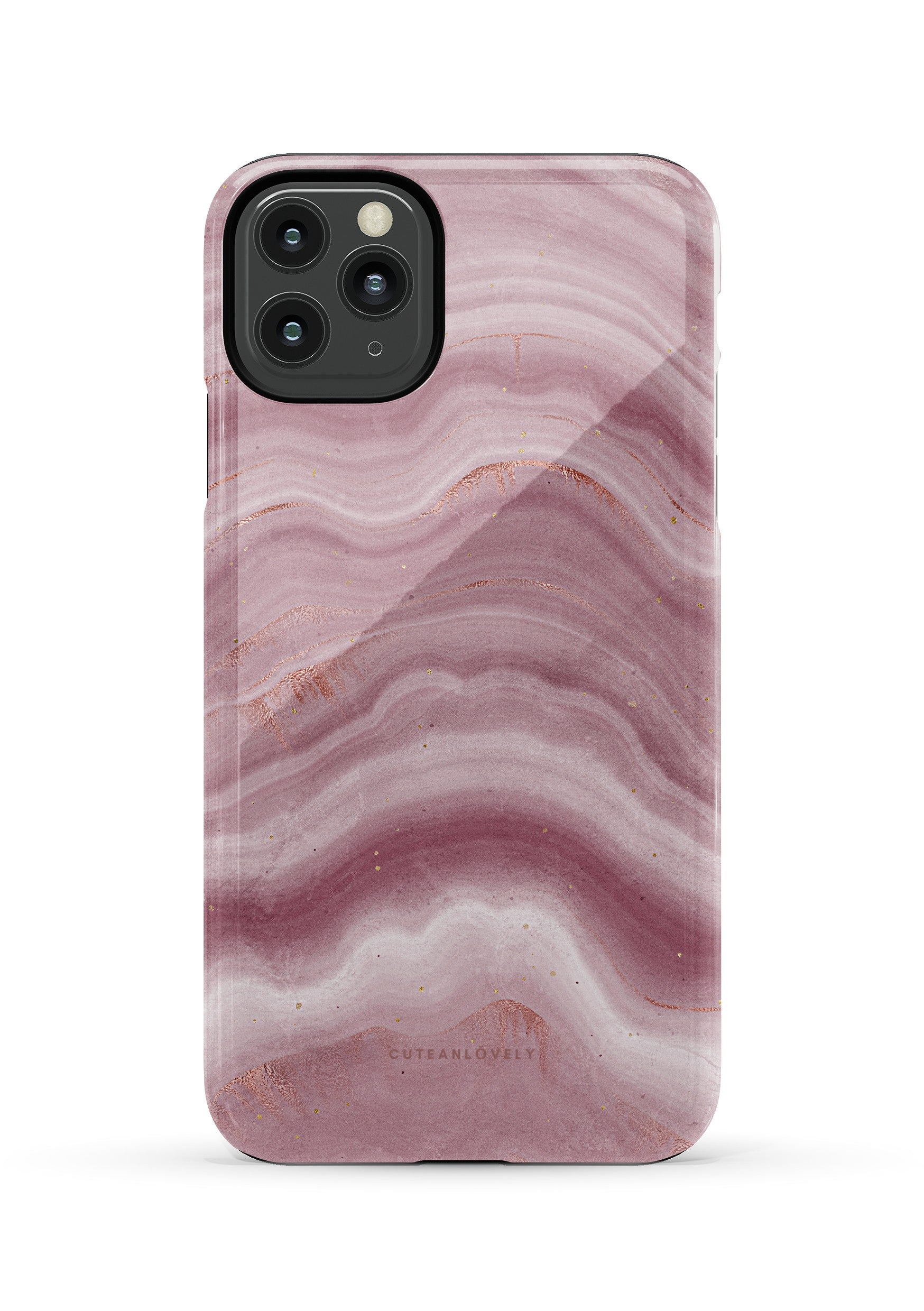CUTEANLOVELY | Mauve Ripple Marble iPhone 11 Pro Max  Case