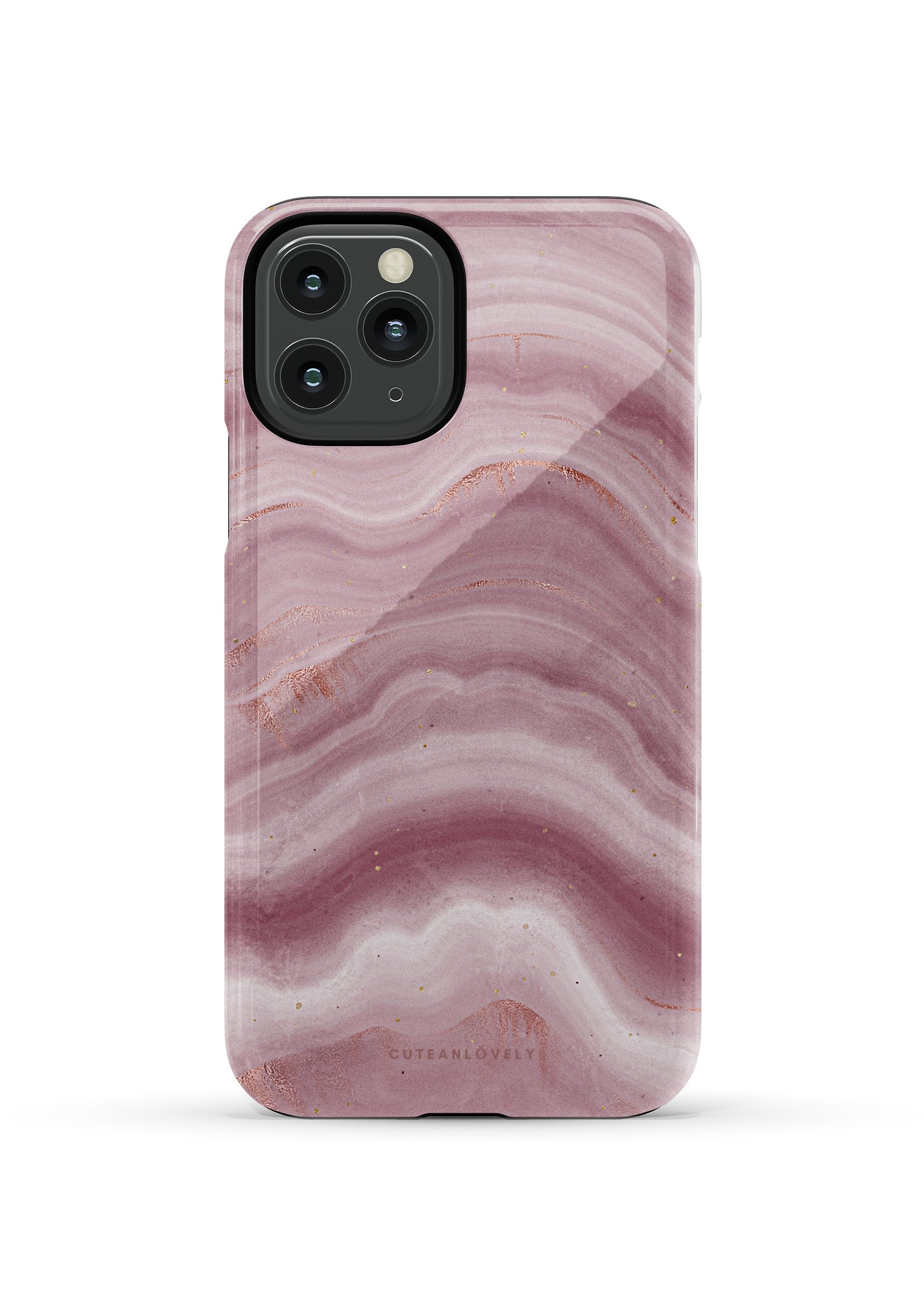CUTEANLOVELY | Mauve Ripple Marble iPhone 11 Pro Case