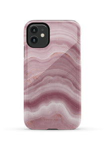 CUTEANLOVELY | Mauve Ripple Marble iPhone 11 Case