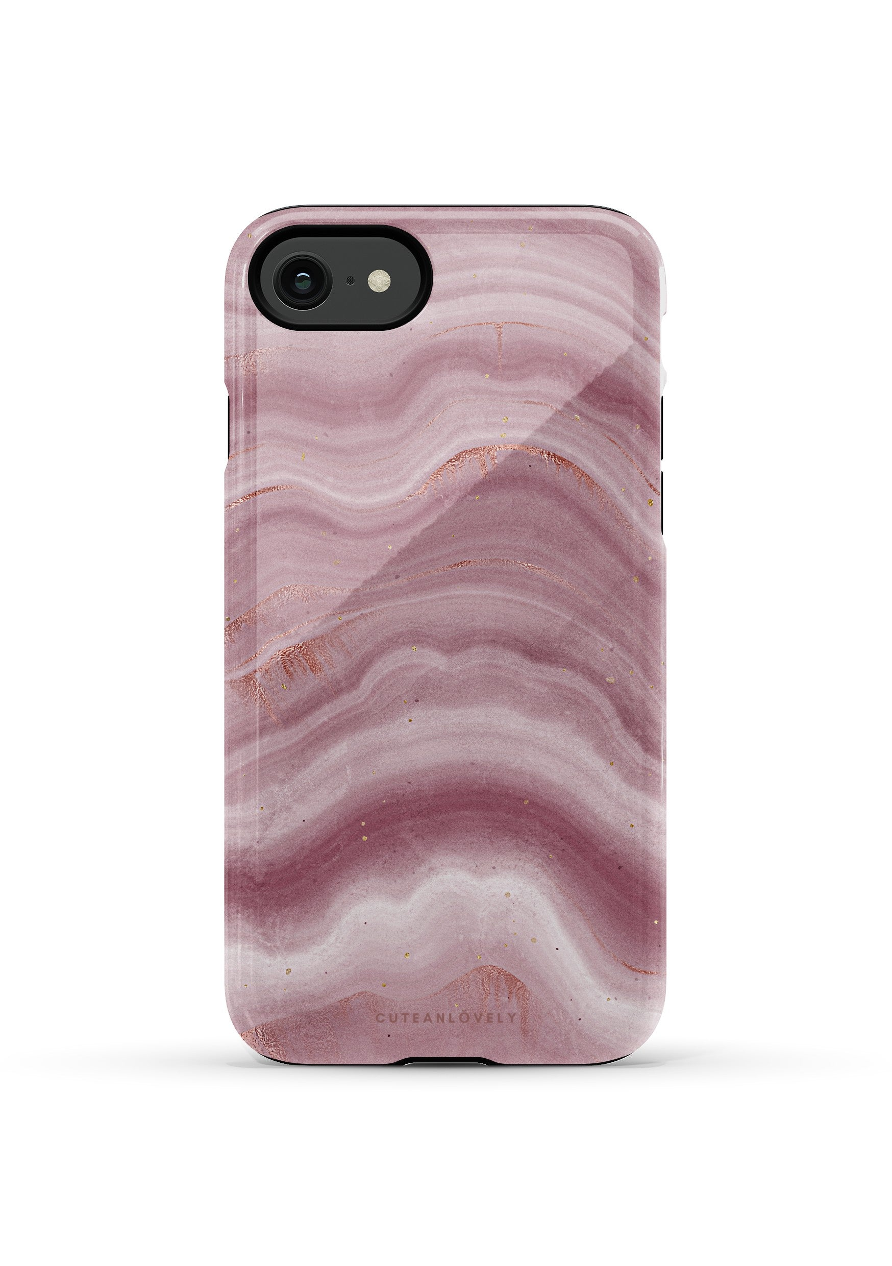 CUTEANLOVELY | Mauve Ripple Marble iPhone 7/8/Se Case