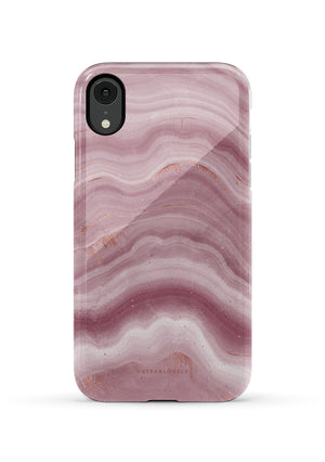 CUTEANLOVELY | Mauve Ripple Marble iPhone XR Case
