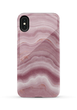 CUTEANLOVELY | Mauve Ripple Marble iPhone XS MAX Case