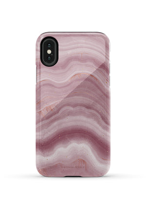 CUTEANLOVELY | Mauve Ripple Marble iPhone X/XS Case