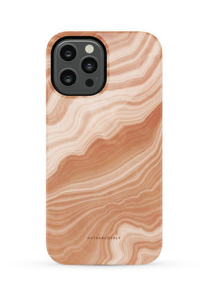 CUTEANLOVELY |Peach Sorbet Marble iPhone 12 Pro Max Case